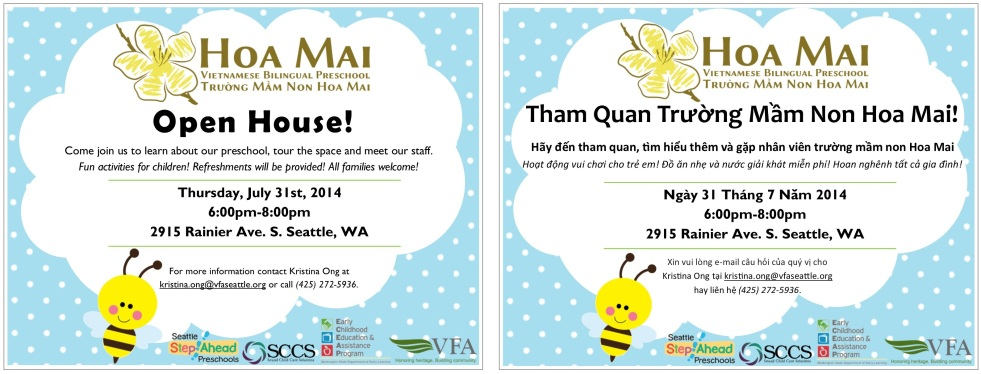 Hoa Mai Open House Invitation